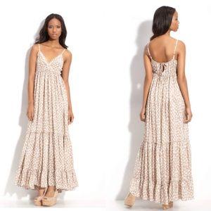 NWT Nordstrom Rosegold. Brand printed maxi dress